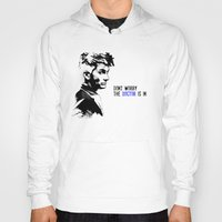 david tennant Hoodies featuring David Tennant Dr. Who - The Doctor is In by Noal's Corner