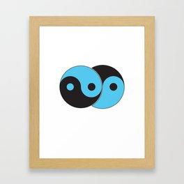 Reflections of Yin and Yang Framed Art Print