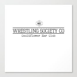 Cauliflower Ear Club Canvas Print