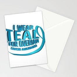I Wear Teal For Ovarian Cancer Awareness Stationery Cards