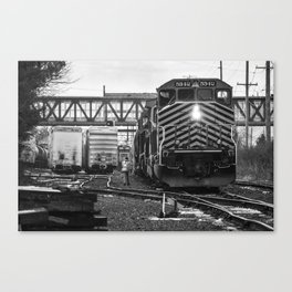 Switching Freight Canvas Print