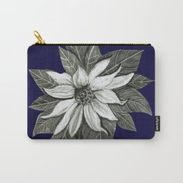 Florida Flower Navy Blue Background Carry-All Pouch