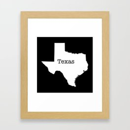 Texas State outline  Framed Art Print