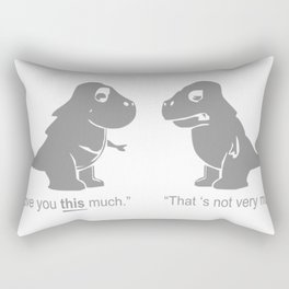 Trex I Love You This Much Rectangular Pillow
