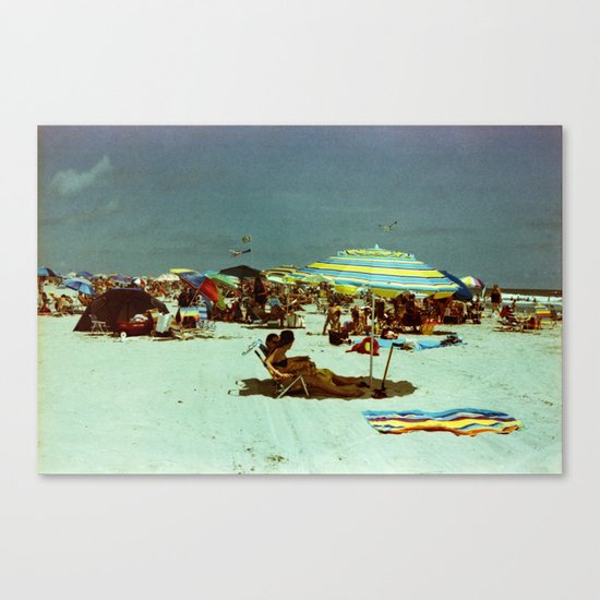 Beach, Wildwood, New Jersey Canvas Print