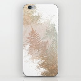 Fern Snowflakes - Golden, bronze & Sage iPhone Skin