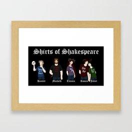 Shirts of Shakespeare (for dark shirts) Framed Art Print