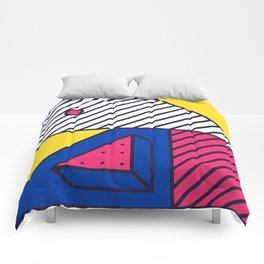 Festive Background in Neo Memphis Style Colorful Decorative pattern Comforters