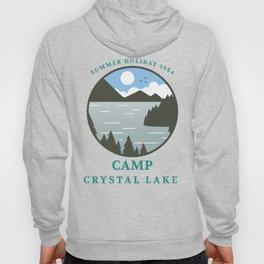 Camp Crystal Lake Retro 80s Slasher Horror Halloween Design Hoody
