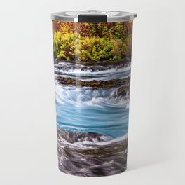 Metolius River, Autumn Wall Art, Fall Foliage Prints, Fall Wall Art, Fall Leaves Wall Art, Travel Mug