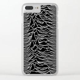 Joy Division - Unknown Pleasures Clear iPhone Case