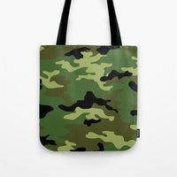 camo Tote Bags featuring Camo by anhnt32