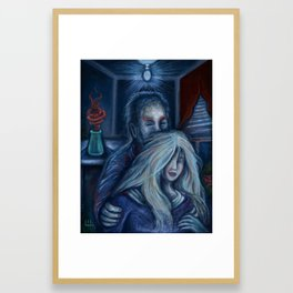 Man and Woman By The Window Framed Art Print