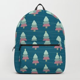 Pastel Christmas Trees (Teal) Backpack