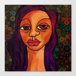 Brown Girl Blue Canvas Print