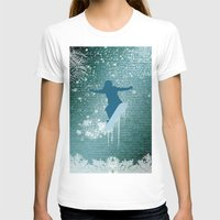 snowboarding T-shirts featuring Snowboarding by nicky2342