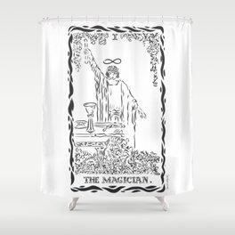 THE MAGICIAN TAROT CARD Shower Curtain