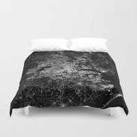 houston Duvet Covers featuring Houston map by Line Line Lines