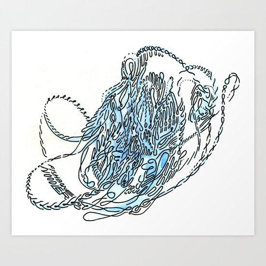 fishbone noodler Art Print