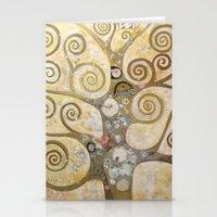 klimt Stationery Cards featuring klimt by Ju Tiscornia
