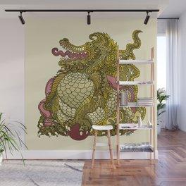 Dragon Royal Gold Wall Mural