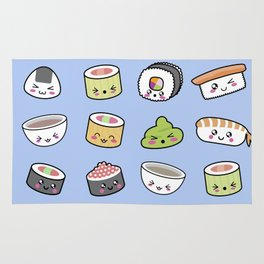 Happy kawaii sushi pattern Rug