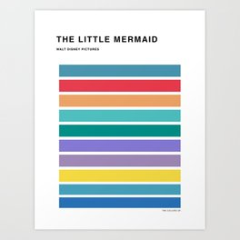 The colors of - The little mermaid Art Print