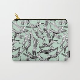 cat party mint Carry-All Pouch