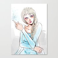 elsa Canvas Prints featuring Elsa by The Radioactive Peach