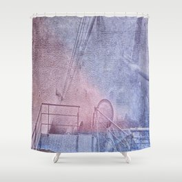 North Atlantic - circa WWIIpsd - 148 of 479  Shower Curtain