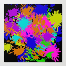 Splatoon Ink Fight Pattern Canvas Print