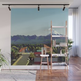 Volcano Wall Mural