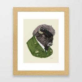 Bison art print by Ryan Berkley Framed Art Print
