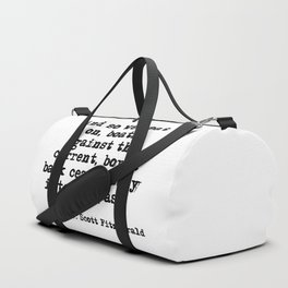 And so we beat on - F Scott Fitzgerald quote Duffle Bag