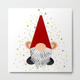 Santa - Gnome Metal Print