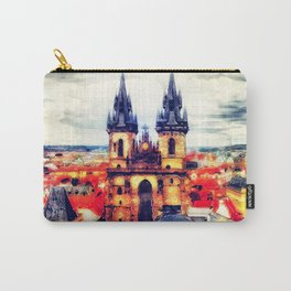 Prague Church Of Our Lady Before Tyn Watercolor Carry-All Pouch