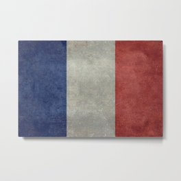 National Flag of France Metal Print