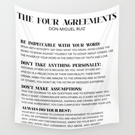 the four agreements Wall Tapestry