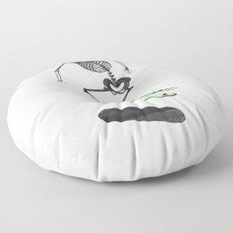 Skeleton Skater Floor Pillow