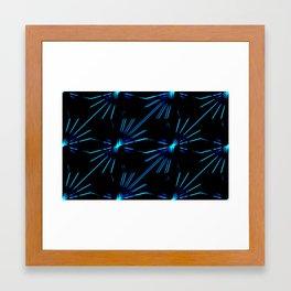 Blue Laserflowers Framed Art Print
