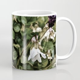 Wild White Violet; Take A Chance On Happiness Coffee Mug