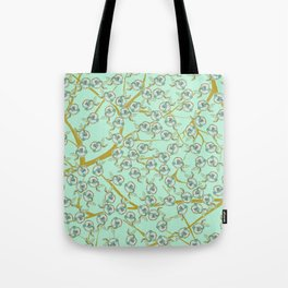 mint flowers Tote Bag