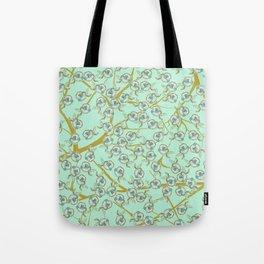 mint flowers Tote Bag