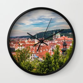 Prague from Petrin Hill Wall Clock