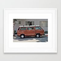 van Framed Art Prints featuring Van by Kyle Hurley