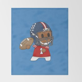 American Football II Throw Blanket