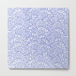 Patch blue Metal Print