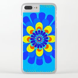 Bloom Blue Clear iPhone Case