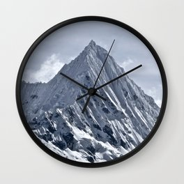 Nevado Piramide Mountain Wall Clock