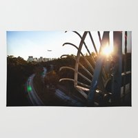 san diego Area & Throw Rugs featuring San Diego - Balboa Bridge  by Taylor Scalise